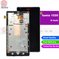 DHL Для Nokia Lumia 1520 ЖК-экран с Сенсорным экраном Digitizer с Рамкой Ассамблеи Замена экрана Для Nokia N1520