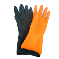 1 Pair Industry Working Gloves Anti Chemical Oil Soluble Resistant Warfare Acid Emulsion Rubber Gloves S15
