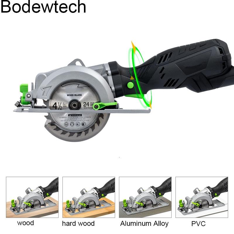 Power Tube Saw  705W Cutting WoodPVC Circular 45 For  Cut BDWTECH BTC02 Laser Circular Tool Mini Electric Degree With  Saw