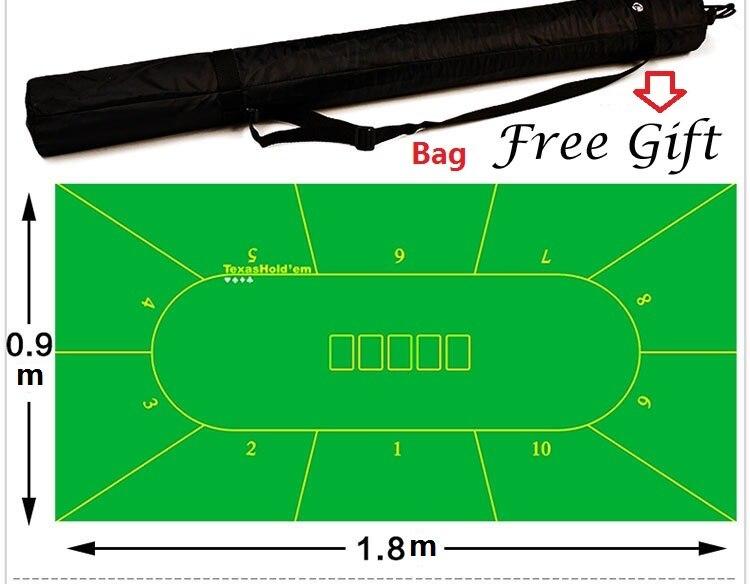 Livraison gratuite par EMS Poker nappe Texas poker nappe 4 options taille en 0.9*1.8 m adapté pour 10man - 5