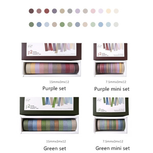 Image 1 - 4 set/Lot Vintage decoration purple green color masking tape 7.5mm 15mm washi tapes stickers for diary album Stationery A6073