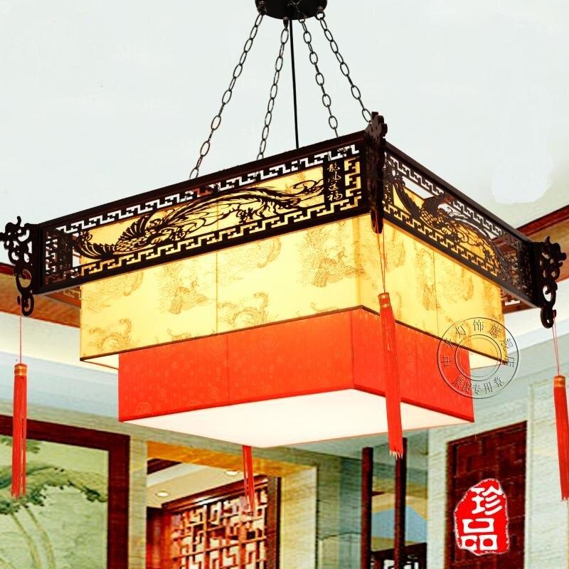 Китайская лампа кулон с драконом Ретро Qingming Shanghe карта droplight гостиная отель дом Клубная коробка деревянная китайская лампа ZS53