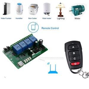 Image 3 - KTNNKG AC cc 7V 36V 4CH WiFi télécommande sans fil universel porte de garage récepteur et 2/4 pièces Ev1527 433MHz RF télécommandes