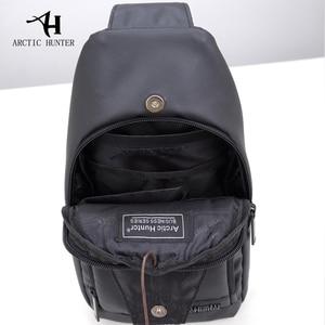 Image 5 - ARCTIC HUNTER Oxford kumaş kumaş Crossbody çanta erkekler için Messenger göğüs çanta paketi rahat çanta su geçirmez basit omuz çantası