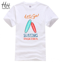 HanHent Cotton T Shirt Men 2017 Summer New Arrival Colorful Surfboards Print Man S T Shirt