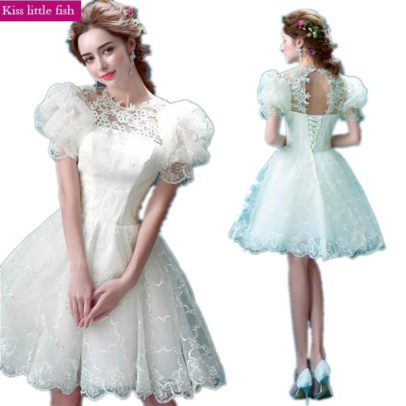 1566 Freies Verschiffen Neue Kommen Schnelle Verschiffen Elegante Weiße Kurze Cocktail Kleider Für Party Cocktail Kleid