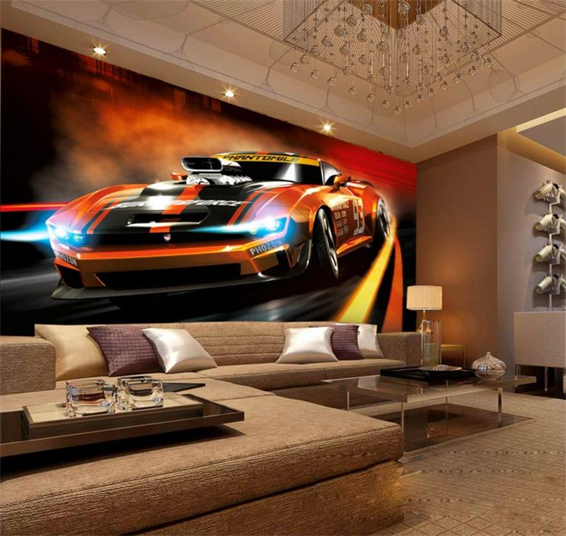 3d Photo Wallpaper Mural Custom Living Room Sports Car Photo Painting Tv Sofa Background Wall Non Woven Wallpaper For Walls 3d Wallpaper For Walls 3d Photo Wallpaperwallpaper For Walls Aliexpress