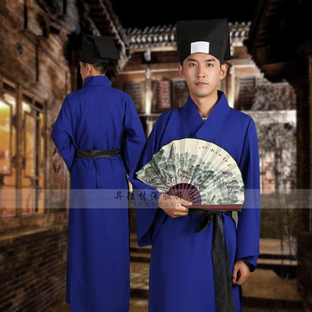 China Ancient student teacher's book service Univercity civilian clothes Hanfu theatrical costumes