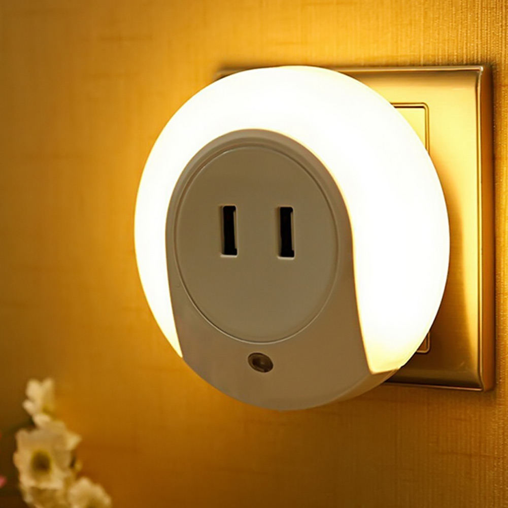 Night lights designs - Smart Design Led Night Light With Light Sensor And Dual Usb Charge Port For Bedroom Home