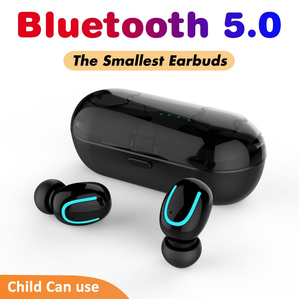 5.0 Bluetooth Earphone Mini Bluetooth Headphone in-ear Headset for 6 Hours Working Wireless Earbuds Bass Automatically Pairing
