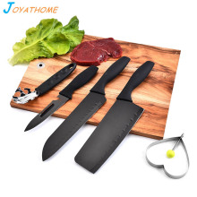 Joyathome 5pcs/Set Black Stainless Steel Kitchen Knife Set Chef Slicing Multifunctional Keukenmessen