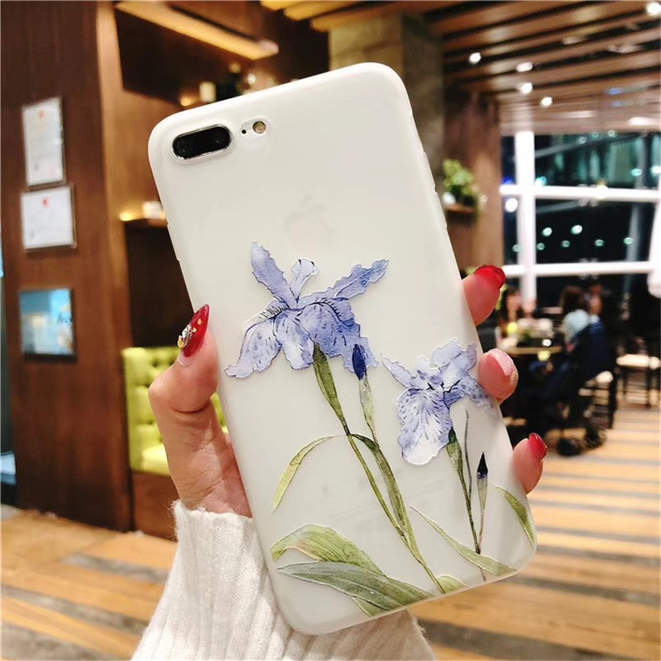 MOUSEMI Luxury 3D Silicone Case For iPhone 6 7 6S 8 Plus 5S SE X XS MAX XR Shockproof Flower Phone Case For iPhone 6 7 Case Girl (8)