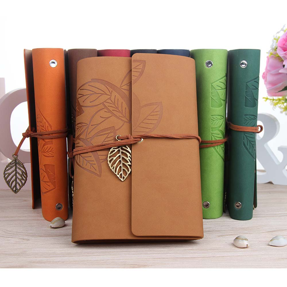 145*105MM Classic Retro Notebook Leather Blank Diary Note Book Journal Sketchbook 8 Colors paper high leather journal notebook mini stitched 80 x 105mm