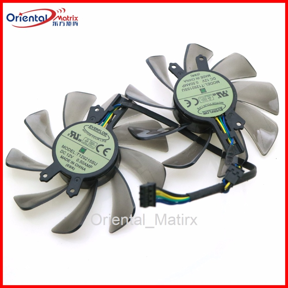 Free Shipping T129215SU 85mm 12V 0.50A 4Pin For ZOTAC <font><b>GTX650Ti</b></font> Boost-2GD5 GTX660-2GD5 HA Graphics Card Cooling Fan image