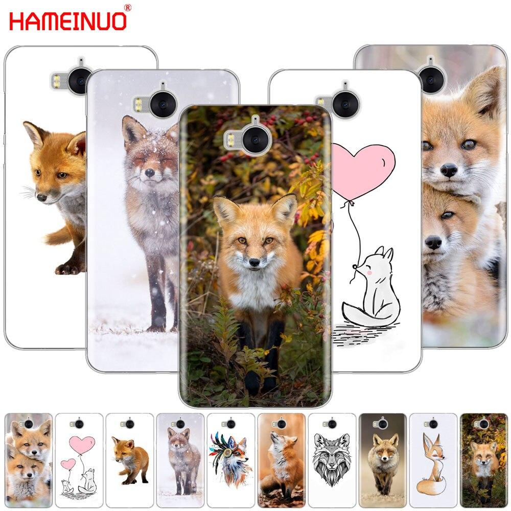Hameinuo лисы милые животных сотовый телефон чехол для <font><b>Huawei</b></font> <font><b>Honor</b></font> 3C 4A 4x 4c 5&#215;6 7 8 y6 y5 2 II Y560 Y7 2017