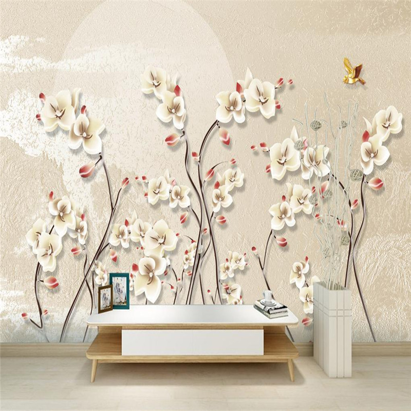 desktop wallpaper for walls 3 d nordic simple modern aesthetic custom photo wallpaper living room study kitchen flower murals