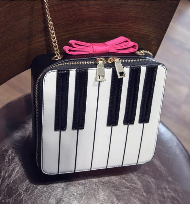 Unico Di Donne E In Arco La Bianco Bag Nero Chiave Spalla Messenger Piano Borsa Borse Patchwork vaT7qwrT