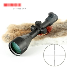 Hunting Optic 3-15X56 Long Range Riflescope Side Wheel Parallax Optic Sight Rifle Scope Hunting Scopes Sniper Luneta Para Rifle tactical 6 24x50 optic rifle scope ergonomic parallax adjustment ring and integral sun shade for hunting gs1 0150