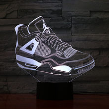 huge discount 6d0cb 74d30 Jordan Retro 4 Shoes Basketball Lamp Bedside Decor 3D Illusion Touch Sensor Boys  Kids Gift Led Night Light Air Jordan 4 Sneakers