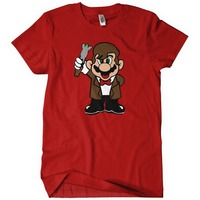 Tee4U Cheap Graphic T Shirts Regular 11Th Doctor Mario Men O Neck Short Sleeve Tee Shirt