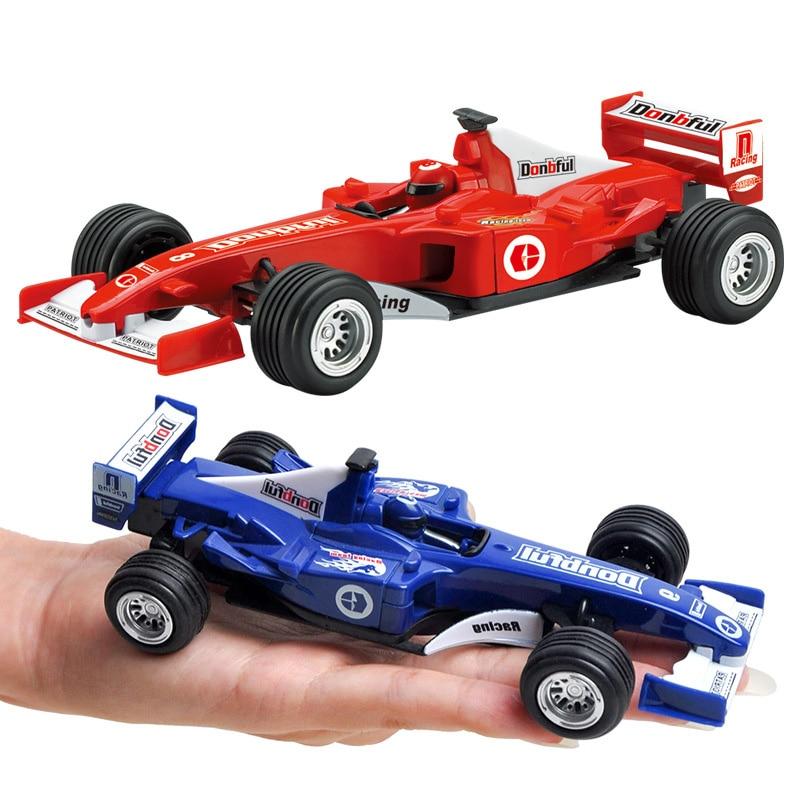 2pcs Kid Pull back F1 Formula car model Boy toy gift   car Classic toy ~
