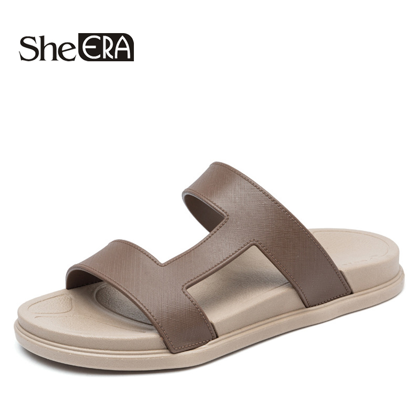 2018 Summer Men Slides Slippers Men Shoes Casual Flip Flops Outside Fashion Men Sandals Beach Male Soft High Quality Shoes summer men flip flops high quality comfortable beach sandals shoes for men male slippers plus size 47 casual shoes free shipping