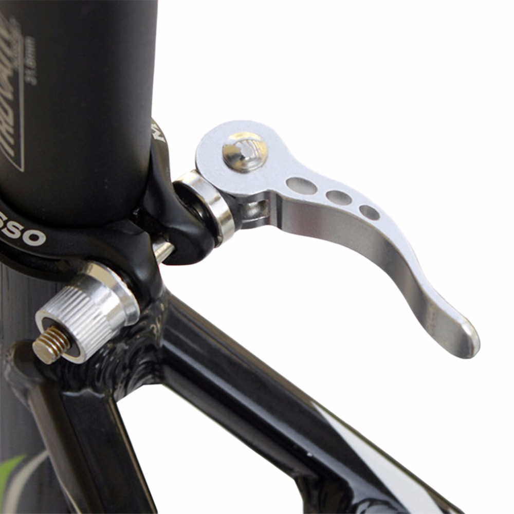 Bicycle Bolt Clamp Aluminum Alloy Quick Release Seat Post Locking Clamps for 27.2mm
