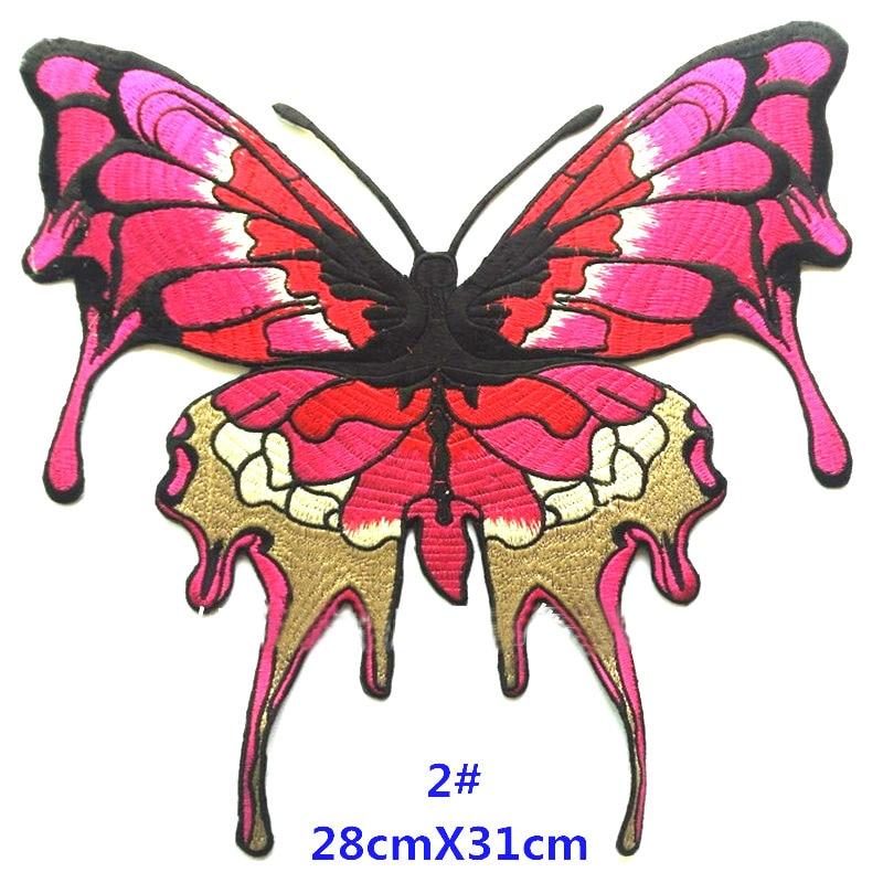 Große Schmetterling Patch gestickt Patches Eisen auf für Kleidung - Kunst, Handwerk und Nähen - Foto 3