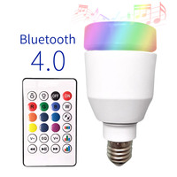 LKLTFX Intelligent Bluetooth Music Bulb Led Colorful Bluetooth Speaker Bulb E27 Wireless with Remote Control Sound Bulb Lamp