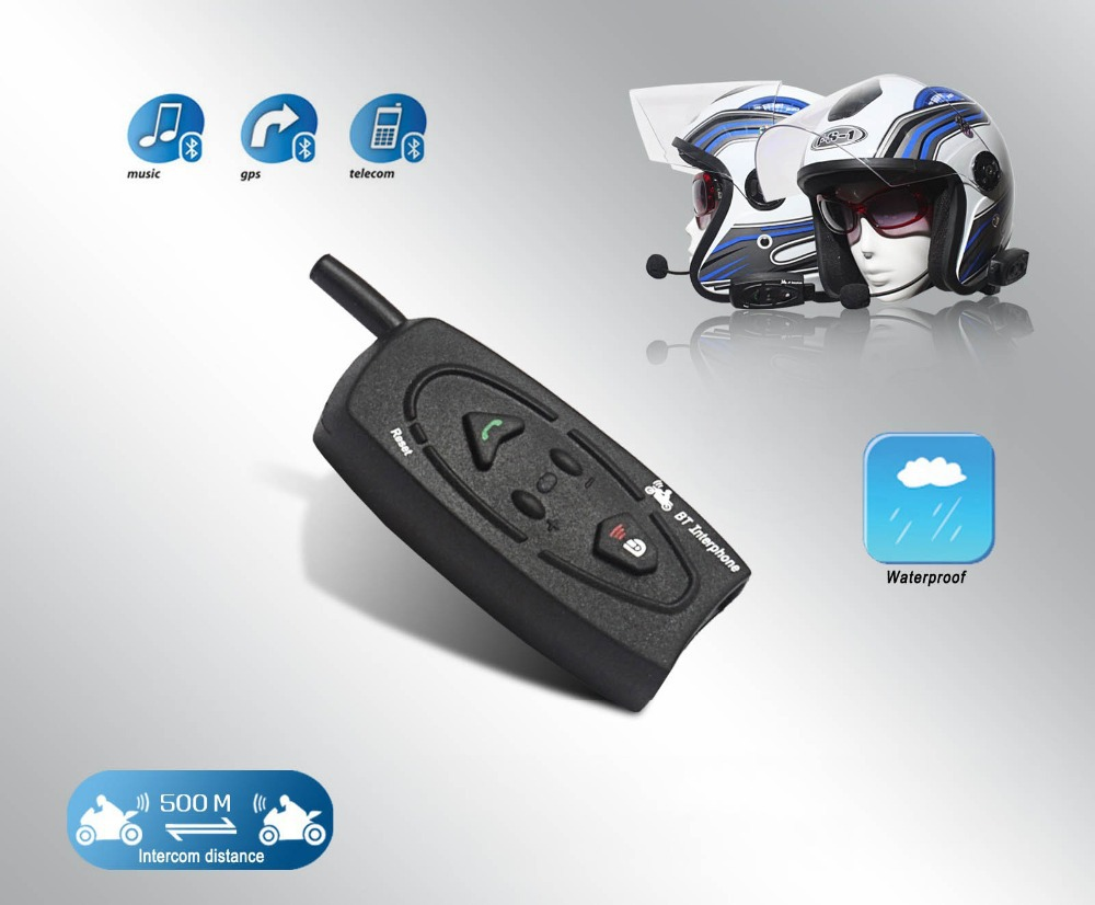 ФОТО Bluetooth Intercom 500M for 2 riders BT Motorcycle Motorbike Helmet Intercom stereo headset Free Shipping