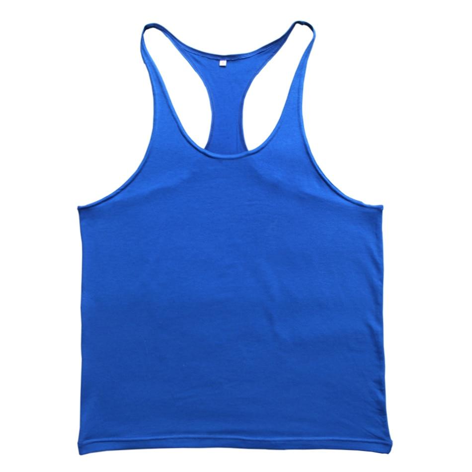Kebugaran Pria Tank Top Singlet Stringer Binaraga Pakaian Tanpa - Pakaian Pria - Foto 4