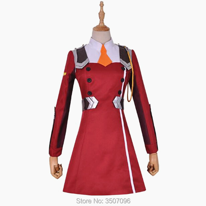 DARLING in the FRANXX Zero Two Cosplay Costume Code 002 02 Dress Halloween Party Suit Women Japanese Anime Outfit Headwear Free