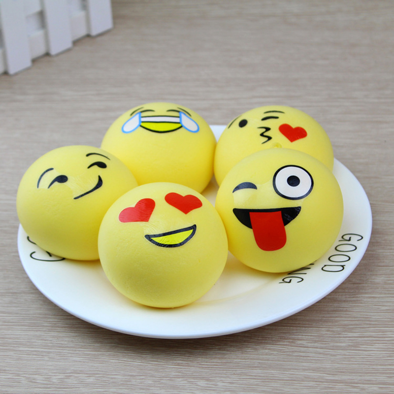 7CM Cartoon Mini Expressions Bread Squeeze Toys Soft Slow Rising Squishy Toy Small Steamed Buns Stress Relief Toy For Kids Gift
