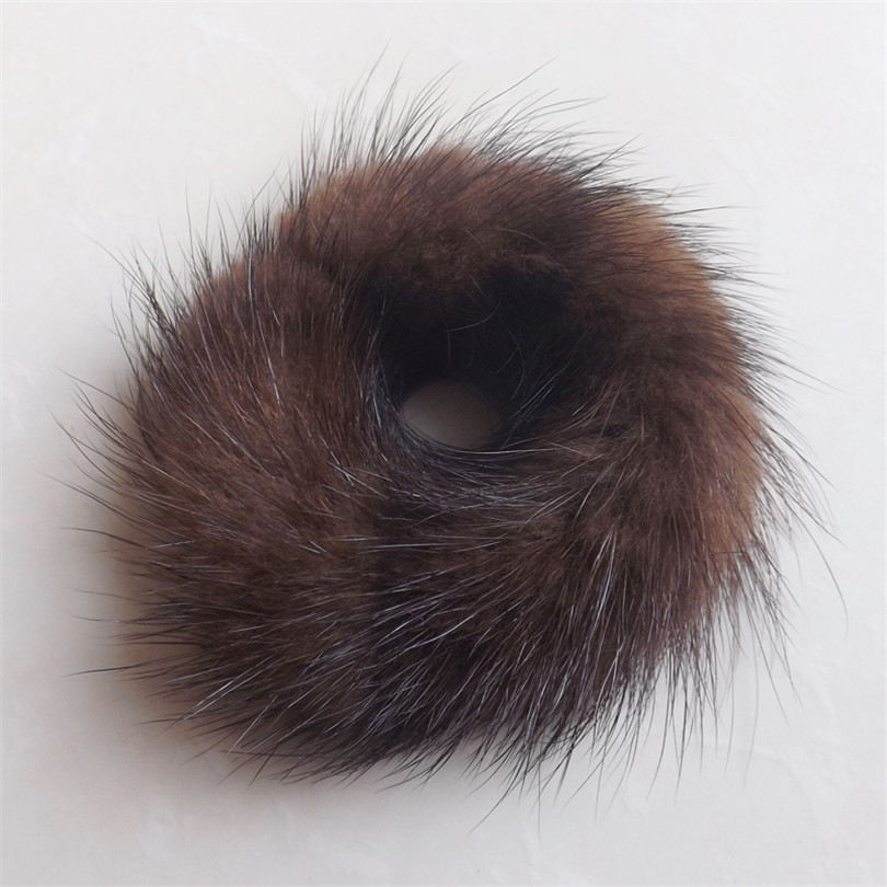 ленти за коса за жени топла мека изкуствена носна кожа с топка еластични шапки за глава топка от кожа коса лента за коса аксесоари за коса гумена лента