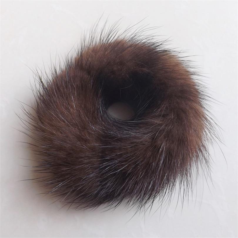 band rambut untuk wanita Panas Lembut Buatan Mink Bulu Bola Anjal kepala elastik Bola Bulu Rambut Tali Band Aksesori rambut Band Getah