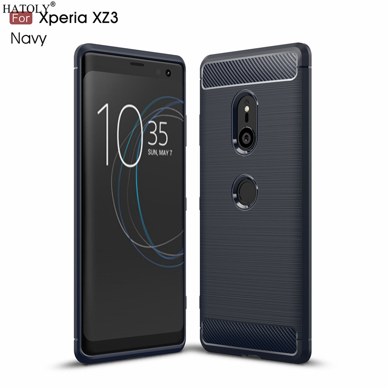 HATOLY For Capas <font><b>Sony</b></font> <font><b>Xperia</b></font> <font><b>XZ3</b></font> <font><b>Case</b></font> Anti-knock <font><b>Soft</b></font> <font><b>TPU</b></font> Brushed Rugger Silicone Phone <font><b>Cases</b></font> For <font><b>Sony</b></font> <font><b>XZ3</b></font> fundas H8416 H9436 image