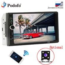 Podofo 2 din car radio 7 HD Autoradio Player MP5 Touch Screen Digital Display Bluetooth USB