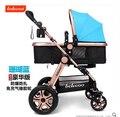 Absorvedores de choque carrinho de bebê de carro do bebê Dobrável carrinho de umbrellababy two-way alloybuggiest Comveyances Criança de Rodas de alumínio