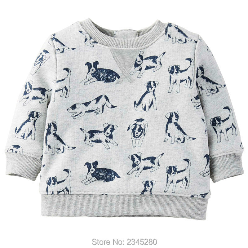 T Shirts For Baby Boys T-shirts Clothes Sweater Child Tops Long Sleeve Dog Print Children Tees Clothes Tops Clothing Bobo Choses03
