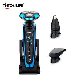 TINTON жизни Для мужчин моющиеся Перезаряжаемые электробритва Электрический бритье бороды машина Бритва Перезаряжаемые