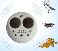 2017 New High efficiency without radiation without noise multi function double head ultrasonic electronic mosquito repellent