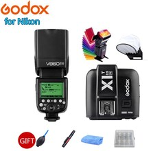 лучшая цена Godox Ving V860II-N 2.4G Wireless TTL HSS Li-on Battery Camera Flash Speedlite for Nikon DSRL D800 D700 D7100 D7000 D5200 D5100