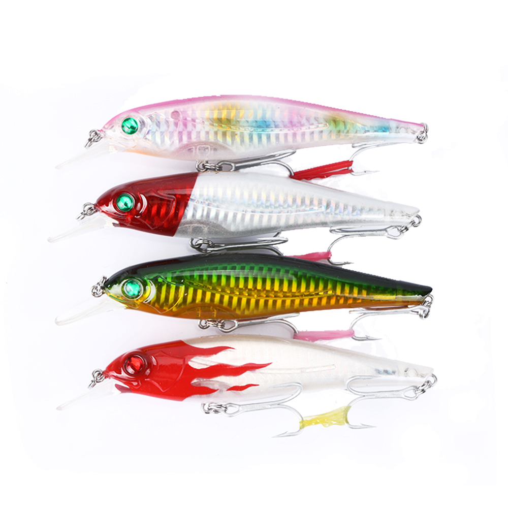 Cheap! 1PCS 13cm 21.5g Big Minnow Fishing lure Wobbler Artificial Bass/Trout Bait For Sea Fishing (Color will sent randomly) 1pcs 16 5cm 29g big minnow fishing lures deep sea bass lure artificial wobbler fish swim bait diving 3d eyes