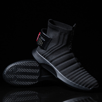 Fires Men Casual Shoes Fashion Black White Loafer Shoes Male Breathable Cool Flat Shoes High Top Man's Outdoor Sneakers