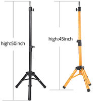 Adjustable 50Inch Golden Profession Tripod Stand Holder Hairdressing Training Mannequin Canvas Block Head Wig Stand Salon Tools