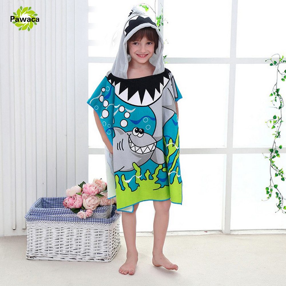 Poncho Bain Us 7 32 Off Beach Towel 60x120cm Cartoon Kids Colors Baby Hooded Poncho Character Kids Bath Robe Towel Toallas Playa Serviette De Bain In Bath