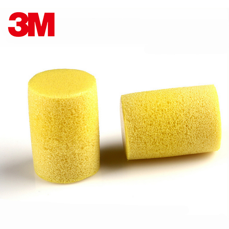 10pairs 3M 1213 Slow Rebound PVC Soft EarPlugs Noise Reduction Sleeping Swimming Welding Travel Work Disposable Ear Protective-in Ear Protector from Security & Protection