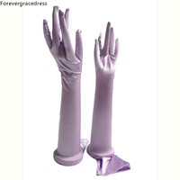 Forevergracedress Beautiful Stunning Real Photo Purple White Ivory Long Bridal Gloves Bride Cheap Wedding Accessories