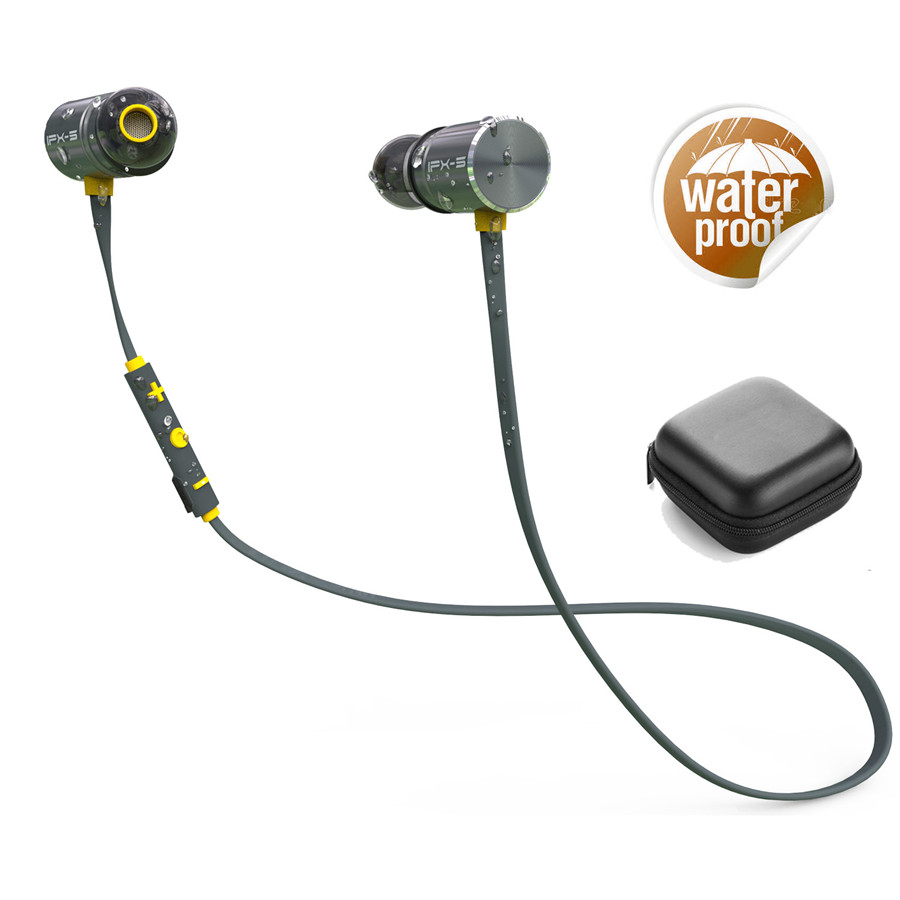 Plextone BX343 Wireless Headphone Bluetooth IPX5 Waterproof Earbuds Magnetic Headset Earphones With Microphone For iPhone Sport magnetic earbuds wireless bluetooth headset support nfc pairing two devices at one time