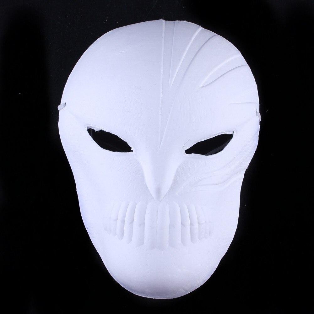 Кричащие призраки DIY пустые Вечерние Маски белая бумажная целлюлоза окружающей среды Изобразительное искусство живопись программы Маскарад полное лицо маски 10 шт - Цвет: grim Reaper